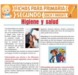 Ficha de Higiene y Salud para Segundo de Primaria