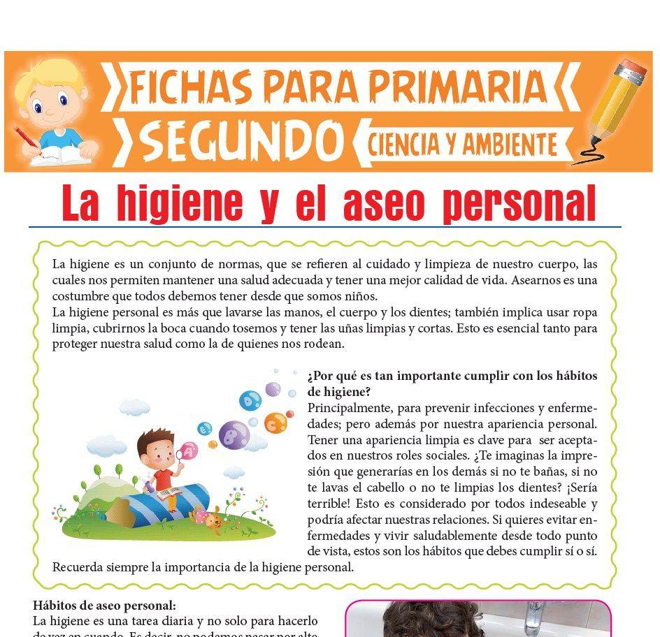 Ficha de La Higiene y el Aseo Personal para Segundo de Primaria