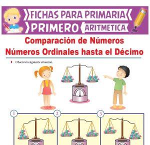 Ficha de Comparación de Números para Primero de Primaria