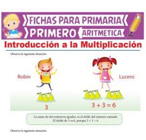 Ficha de Introducción a la Multiplicación para Primer Grado de Primaria