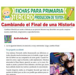 Ficha de Cambiando el Final de una Historia para Tercer Grado de Primaria