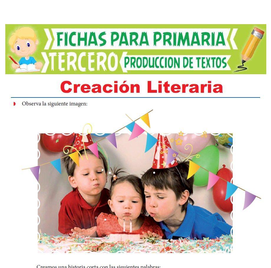 Ficha de Creación Literaria para Tercer Grado de Primaria