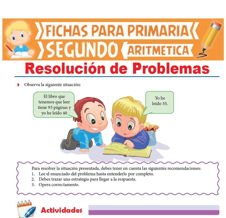 Ficha de Resolución de Problemas para Segundo Grado de Primaria