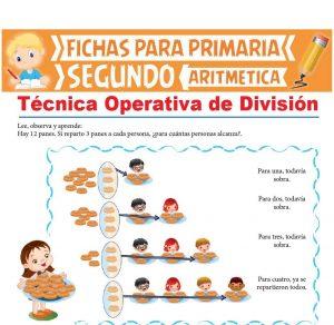 Ficha de Técnica Operativa de División para Segundo Grado de Primaria