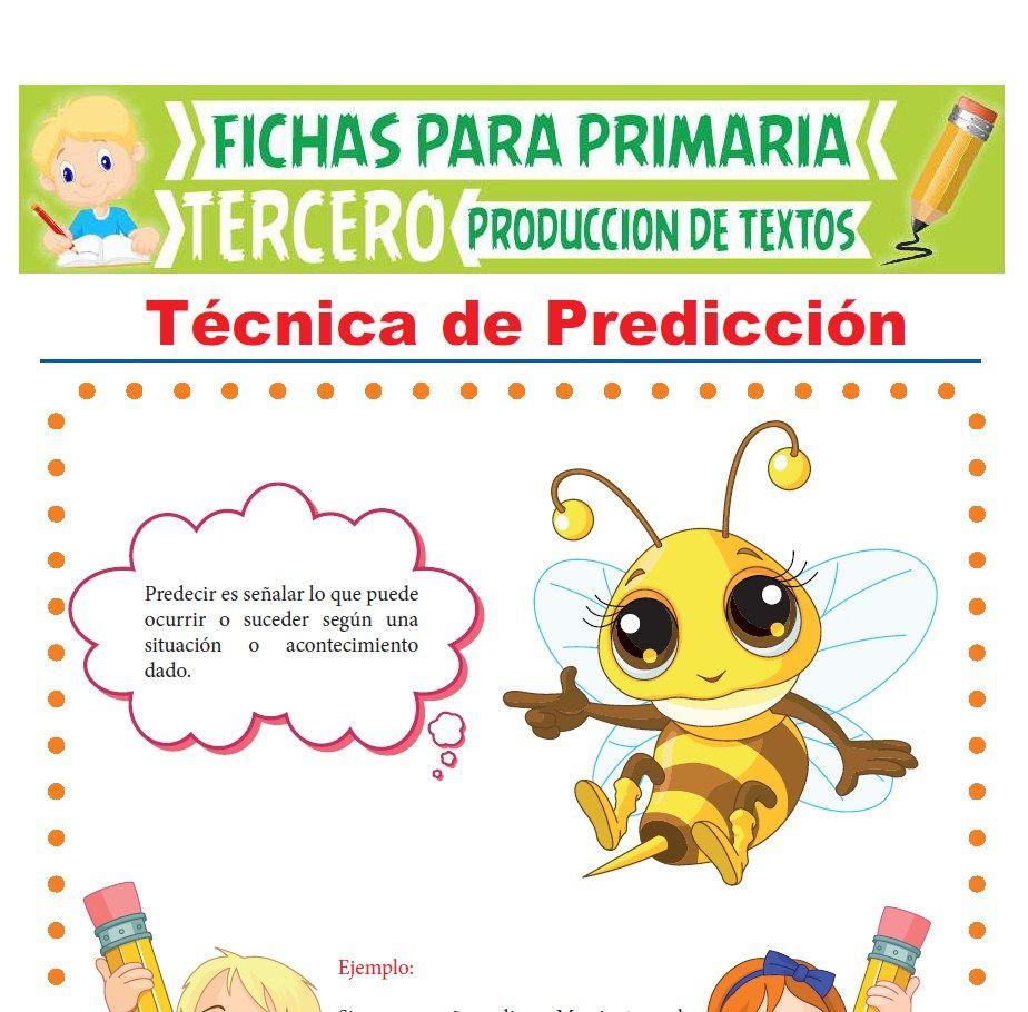 Ficha de Técnica de Predicción para Tercer Grado de Primaria