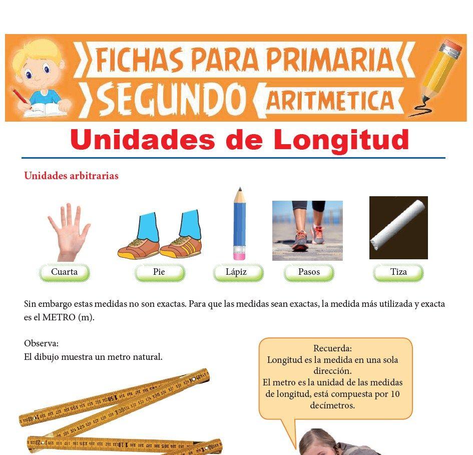 Ficha de Unidades de Longitud para Segundo Grado de Primaria