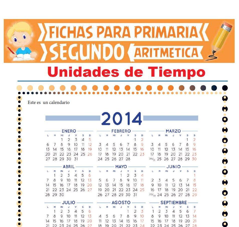 Ficha de Unidades de Tiempo para Segundo Grado de Primaria