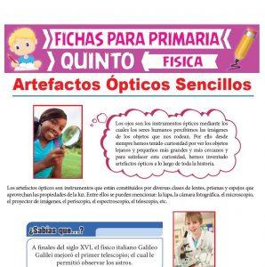 Ficha de Artefactos Ópticos Sencillos para Quinto Grado de Primaria
