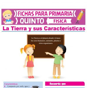 Ficha de La Tierra y sus Características para Quinto Grado de Primaria