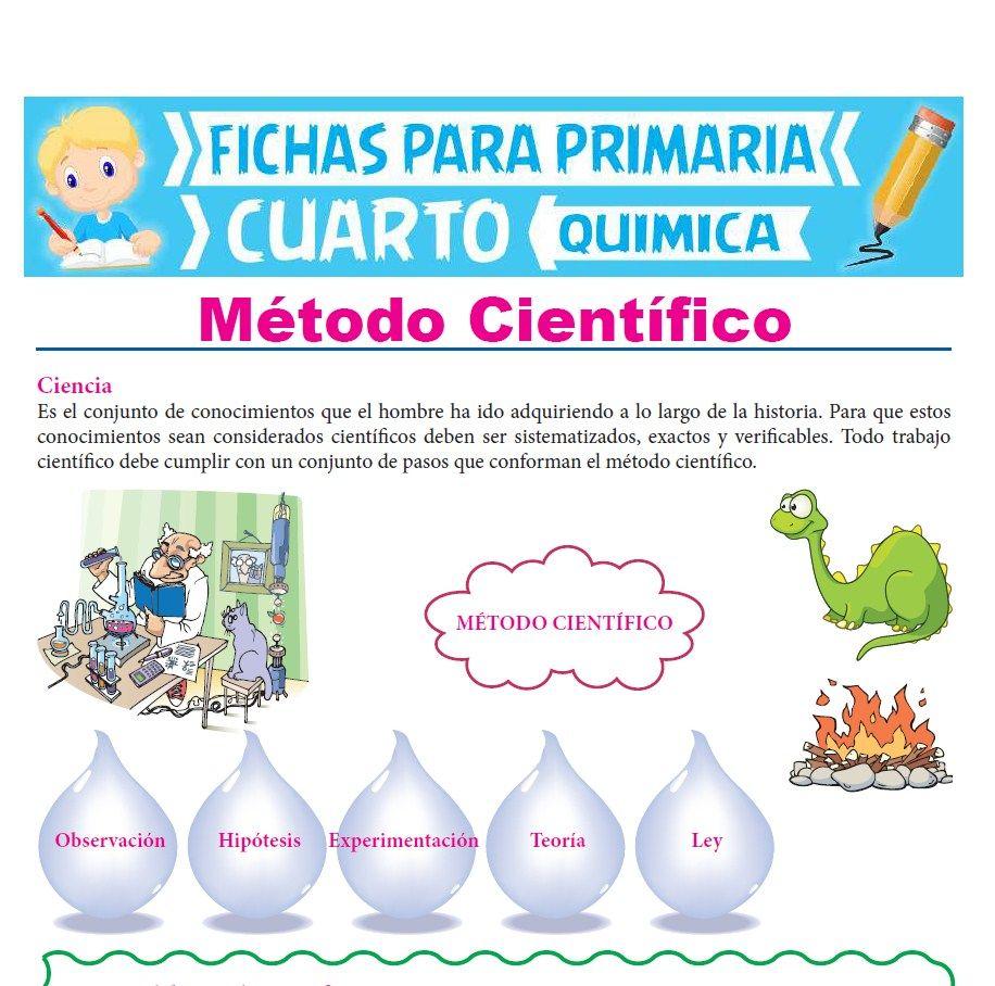 Ficha de Método Científico para Cuarto Grado de Primaria