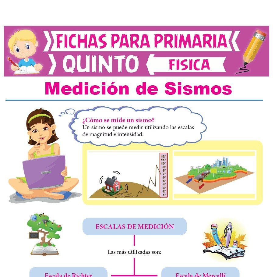 Ficha de Medición de Sismos para Quinto Grado de Primaria