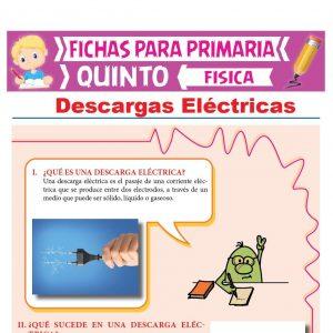 Ficha de Descargas Eléctricas para Quinto Grado de Primaria