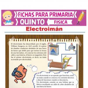 Ficha de Electroimán para Quinto Grado de Primaria