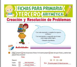 Ficha de Creación y Resolución de Problemas para Tercer Grado de Primaria