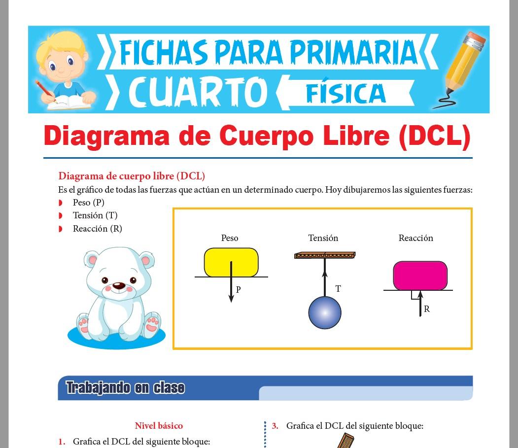 Ficha de Diagrama de Cuerpo Libre DCL para Cuarto Grado de Primaria