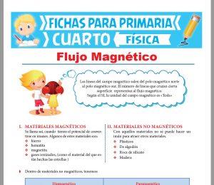 Ficha de El Flujo Magnético para Cuarto Grado de Primaria