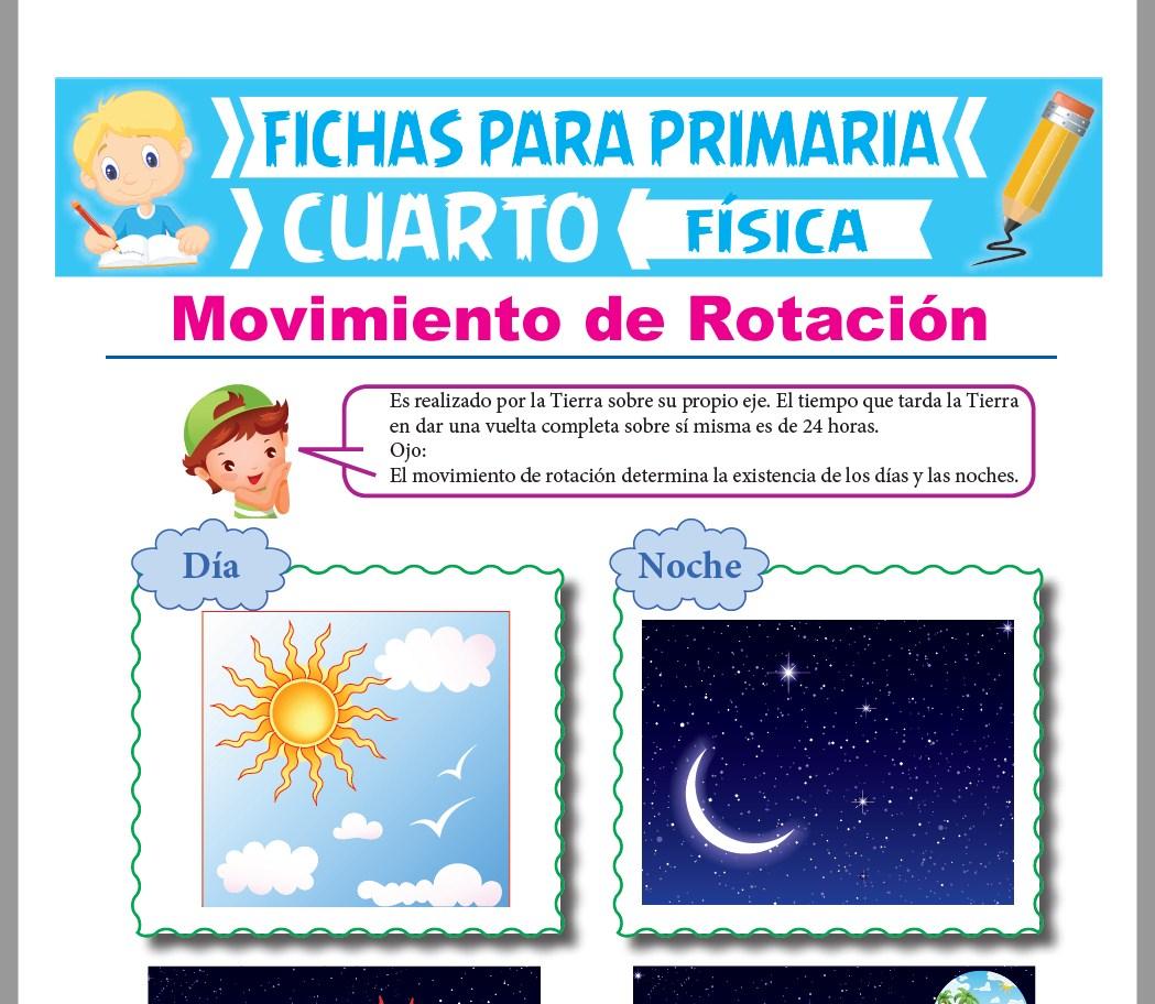 Ficha de El Movimiento de Rotación para Cuarto Grado de Primaria