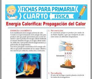 Ficha de Energía Calorífica para Cuarto Grado de Primaria