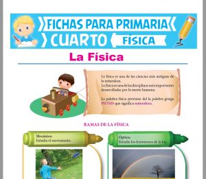 Ficha de Introducción a la Física para Cuarto Grado de Primaria