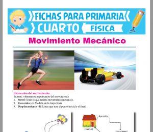 Ficha de Introducción al Movimiento Mecánico para Cuarto Grado de Primaria