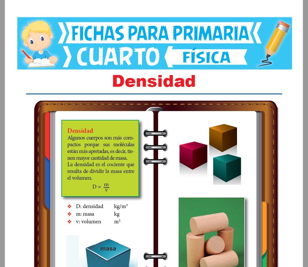 Ficha de La Densidad para Cuarto Grado de Primaria