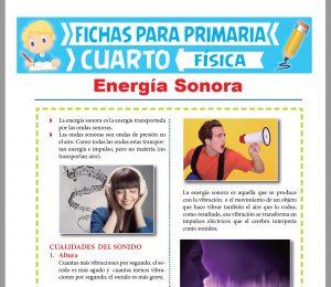 Ficha de La Energía Sonora para Cuarto Grado de Primaria
