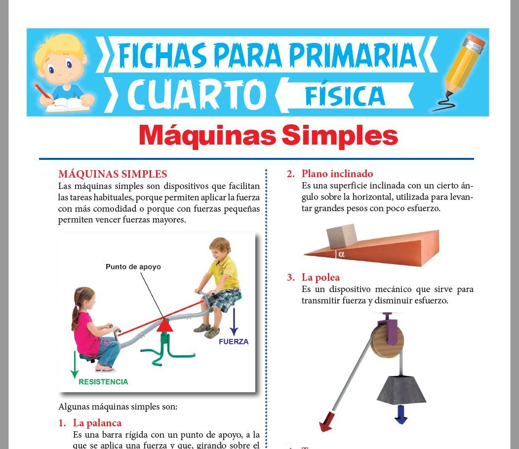Ficha de Máquinas Simples para Cuarto Grado de Primaria