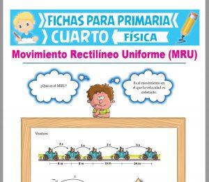 Ficha de Movimiento Rectilíneo Uniforme para Cuarto Grado de Primaria