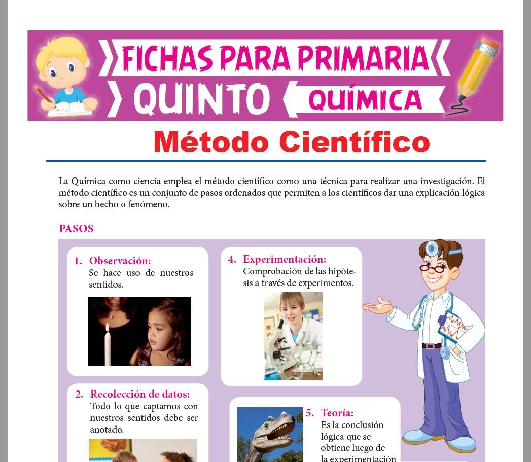 Ficha de Pasos del Método Científico para Quinto Grado de Primaria