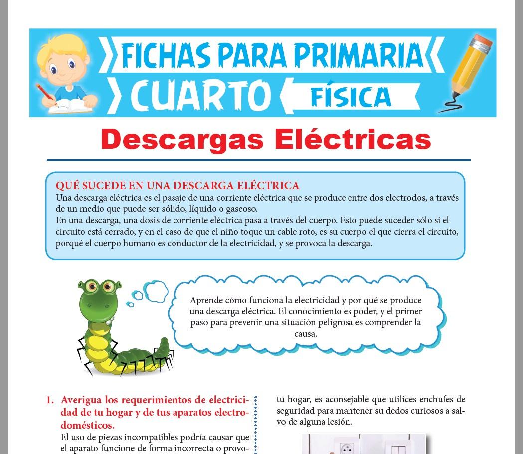 Ficha de Qué Sucede en una Descarga Eléctrica para Cuarto Grado de Primaria