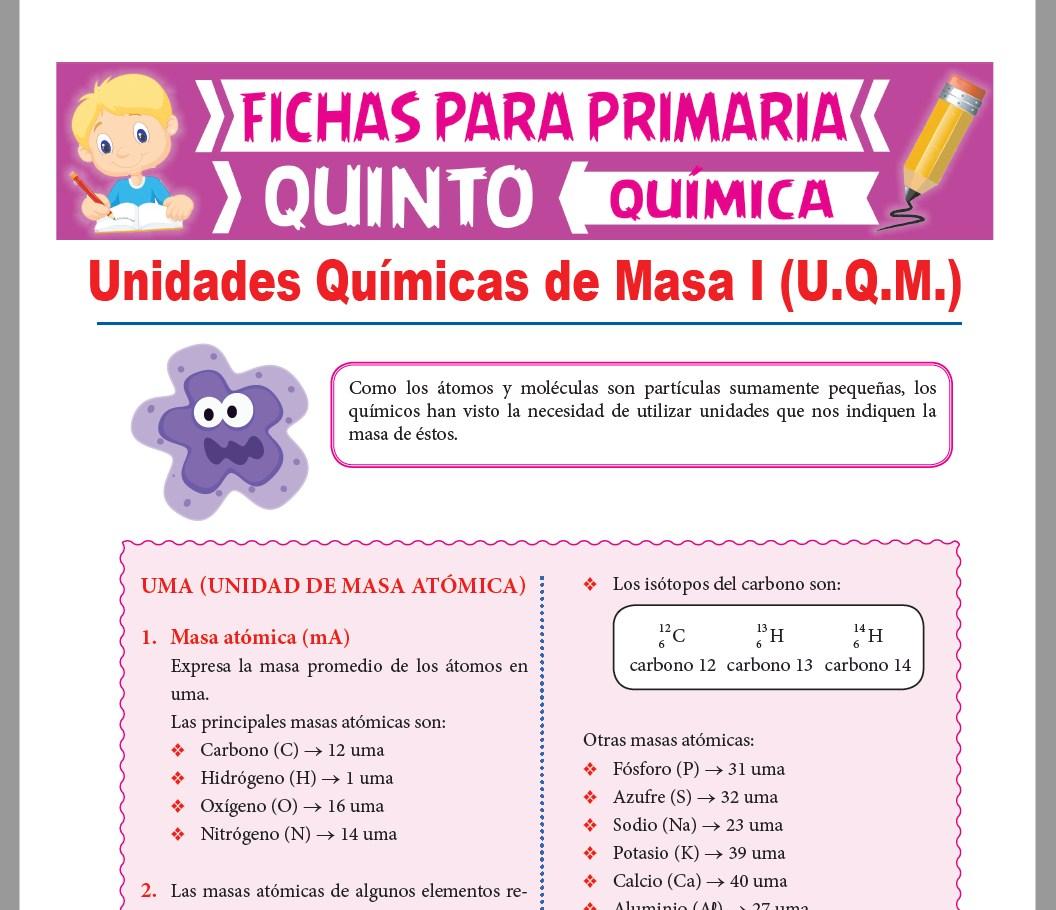 Ficha de Que es la Masa Atómica para Quinto Grado de Primaria