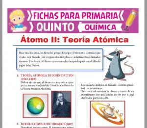 Ficha de Teoría Atómica para Quinto Grado de Primaria