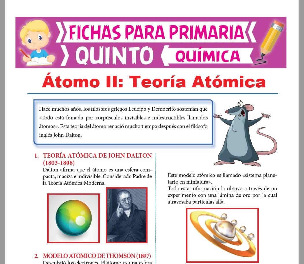 Teoría Atómica Para Quinto De Primaria Actividades