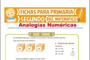 Ficha de Analogías Numéricas para Segundo Grado de Primaria