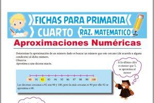 Ficha de Aproximaciones Numéricas para Cuarto de Primaria