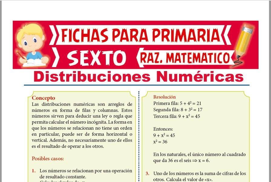 Ficha de Casos de Distribuciones Numéricas para Sexto de Primaria