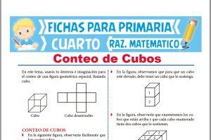 Ficha de Conteo de Cubos para Cuarto de Primaria
