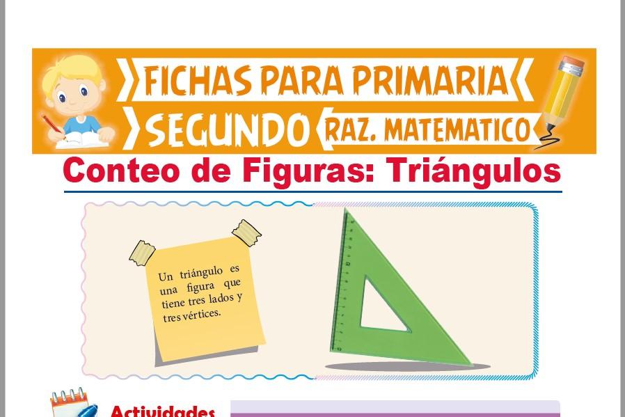 Ficha de Conteo de Triángulos para Segundo Grado de Primaria