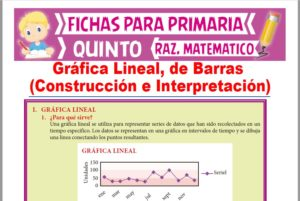 Ficha de Construcción e Interpretación de Gráficos Estadísticos para Quinto Grado de Primaria