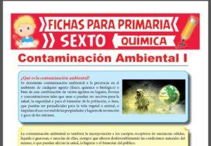 Ficha de Cuáles son los Agentes de Contaminación para Sexto Grado de Primaria