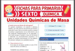 Ficha de Cuánto Pesa un Átomo de Nitrógeno para Sexto Grado de Primaria