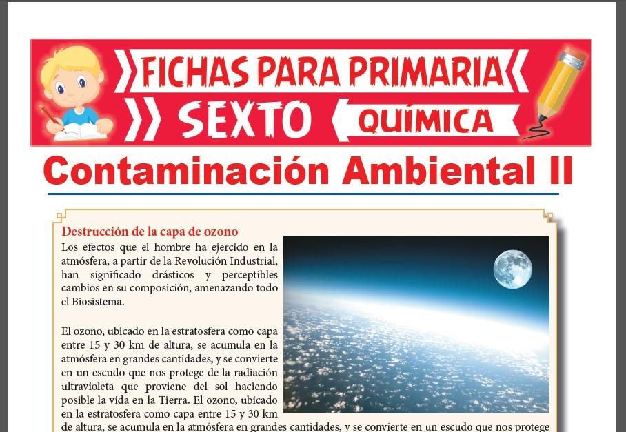 Ficha de Destrucción de la Capa de Ozono para Sexto Grado de Primaria