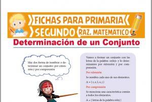 Ficha de Determinación por Extensión y por Comprensión para Segundo Grado de Primaria