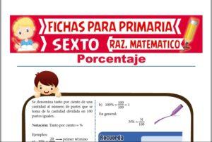 Ficha de Ejercicios con Porcentajes para Sexto de Primaria
