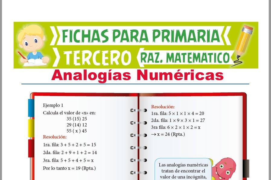 Ficha de Ejercicios de Analogías Numéricas para Tercer Grado de Primaria