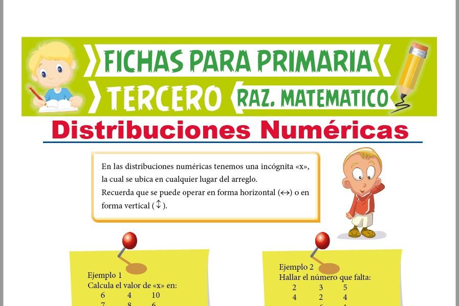 Ficha de Ejercicios de Distribuciones Numéricas para Tercer Grado de Primaria