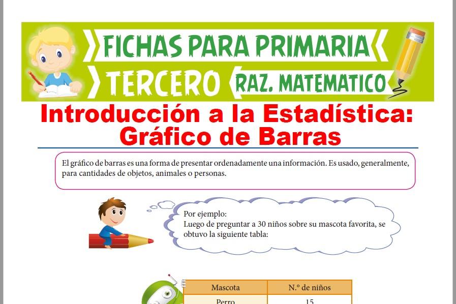 Ficha de Ejercicios de Gráfico de Barras para Tercer Grado de Primaria