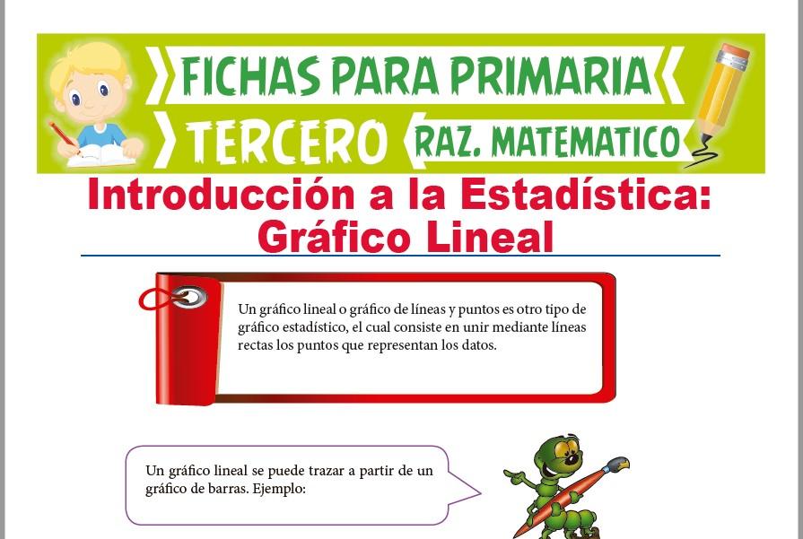 Ficha de Ejercicios de Gráfico de Lineal para Tercer Grado de Primaria