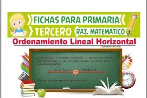 Ficha de Ejercicios de Ordenamiento Lineal Horizontal para Tercer Grado de Primaria