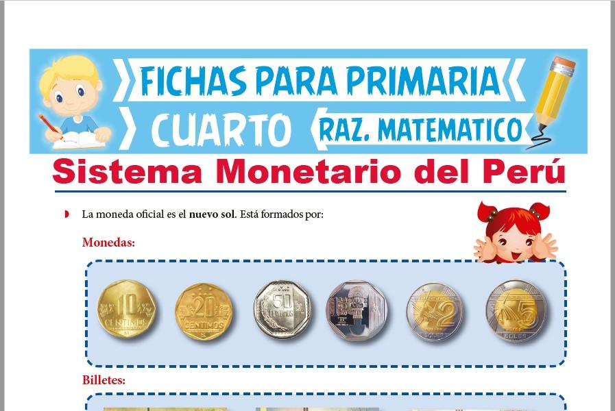 Ejercicios De Sistema Monetario Del Perú Para Cuarto De Primaria 2021